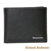 金安德森 引領風潮 左右翻子母式短夾 黑色