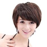 假髮(短髮)-高檔舒適成熟斜瀏海女假髮2色73em60【時尚巴黎】