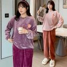 (現貨+預購 FUWAFUWA-)-加大尺碼甜美珊瑚絨桃子居家服套裝