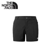 【The North Face 女 DWR透氣運動短褲《黑》】3CHO/跑步短褲/慢跑褲/健行褲/防潑水