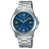 【CASIO】 時尚新風格都會指針腕錶-藍面(MTP-1215A-2A)