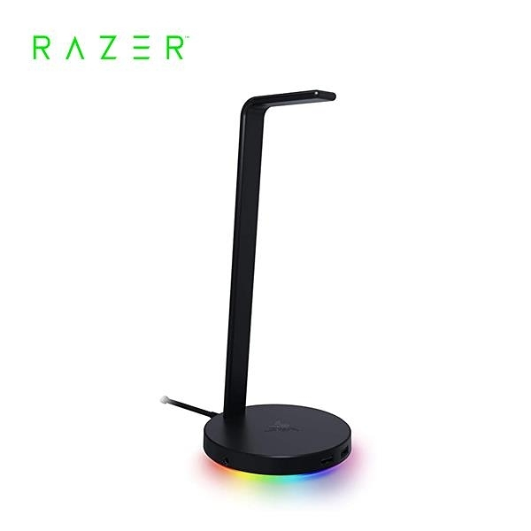 雷蛇Razer Base Station V2(USB 3.1)幻彩基座-V2黑 電競耳機架