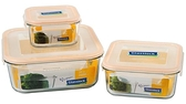 Glasslock 六件式方形收納強化玻璃微波保鮮盒組‧格拉氏洛克-【Fruit Shop】