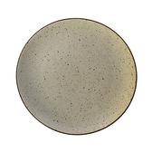 WAGA日式 柴燒手作 22cm 陶瓷淺盤|米黃|單品