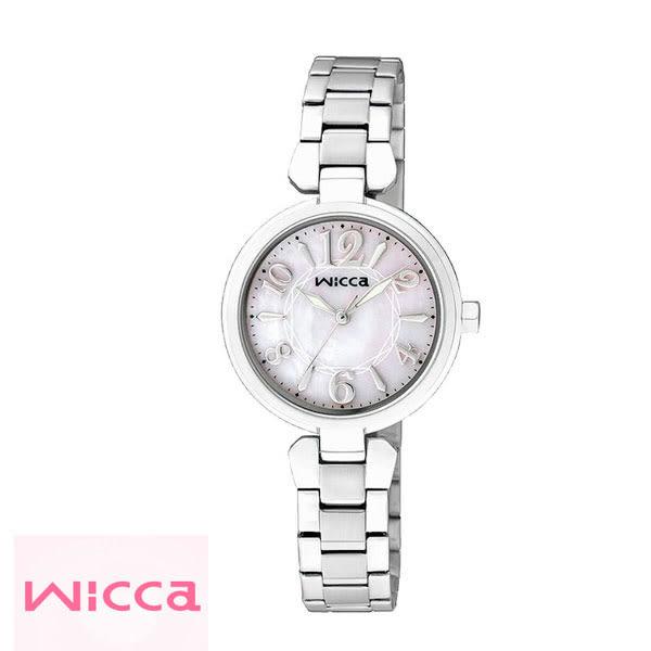 WICCA CITIZEN星辰副牌 簡單三針貝殼面數字鋼帶女錶 26mm BG3-813-11 公司貨   名人鐘錶
