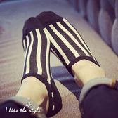 學院風條紋造型短襪【櫻桃飾品】【20973】