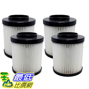 [106美國直購] 4 Highly Durable Washable & Reusable Dirt Devil Style F22/F26 Filters 1LV1110000