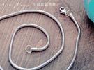【ap12】316L鈦鋼精飾。圓形蛇骨短項鍊