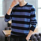 【型男排行榜↘任2件699專區】潮流時尚日系簡約條紋造型百搭男款長袖T恤