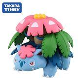【日本正版】妙蛙花 寶可夢 造型公仔 MONCOLLE-EX 模型 神奇寶貝 TAKARA TOMY - 596646