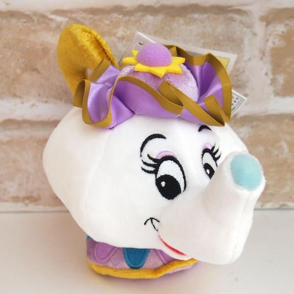 美女與野獸 絨毛玩偶 娃娃 茶壺夫人 迪士尼 日本正版 該該貝比日本精品 ☆
