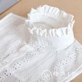 假領子 正韓清新鏤空純棉繡花襯衣領女士裝飾領領 轉角1號