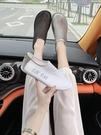 歐貨歐根紗2021夏季新款后拉鍊低幫鞋女單鞋懶人樂福鞋一腳蹬女鞋寶貝計畫 上新