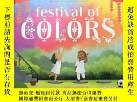 二手書博民逛書店Festival罕見of Colors l Vashti Harrison 美國插畫師 l 印度灑紅節Y390