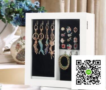 360度旋轉木質台式梳妝台鏡子飾品首飾珠寶盒收納展示鏡櫃小鏡櫃 mks 聖誕慶免運