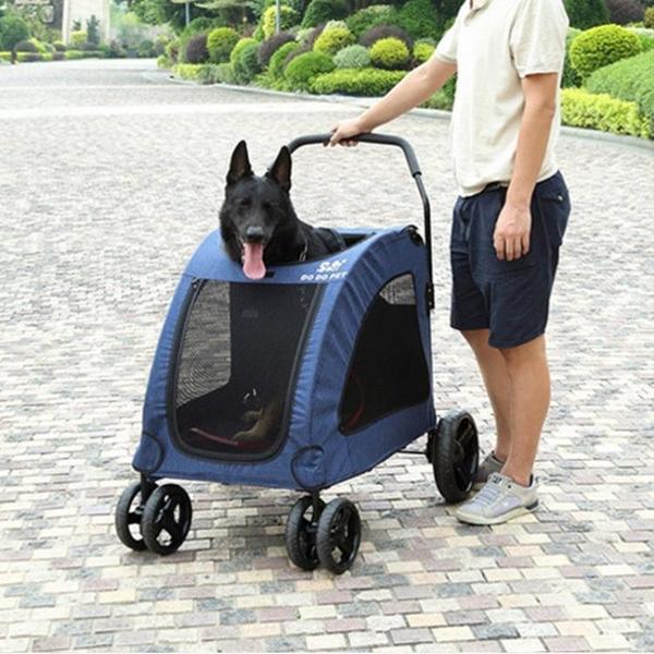 寵物手推車 寵物推車狗推車狗車救助犬四輪金毛拉布拉多中大型犬外出折疊輕便 WJ米家