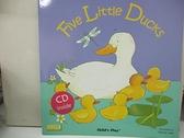 【書寶二手書T7/原文小說_KTF】Five Little Ducks (Classic Books With Holes) (Book +CD)_Penny Ives