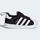 Adidas SUPERSTAR 360 童鞋 小童 休閒 金標 襪套 經典 黑【運動世界】S82711