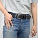 合成皮帶 素黑休閒皮革腰帶NKB16
