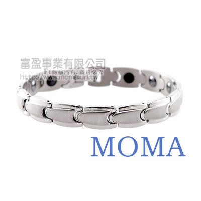 【MOMA】純鈦鍺磁手鍊-子彈寬版