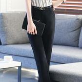 時尚修身顯瘦系腰帶有褲兜黑色職業裝褲女西裝長褲 SG4300【潘小丫女鞋】