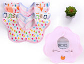 年終大促 女男寶寶口水巾純棉防水360度旋轉嬰兒圍嘴新生兒口水圍兜春夏