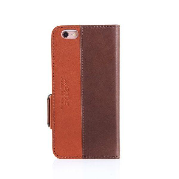 X-SHELL IPHONE 6/6s 防電磁波真皮手機皮套 (時尚拼接紋 卡布奇諾)