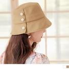 《ZC2280》純色高含棉優雅質感珍珠漁夫帽 OrangeBear