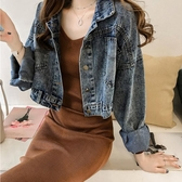 2019春秋新款復古港味牛仔外套女短款寬鬆韓版bf休閒牛仔衣夾克潮