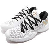 adidas 籃球鞋 Harden B/E 白 黑 金 平民版 低筒 舒適緩震 運動鞋 男鞋【PUMP306】 AC7821