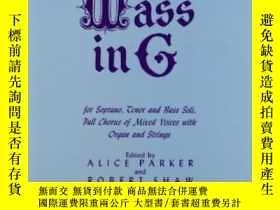 二手書博民逛書店Mass罕見In G-質量(G)Y436638 Franz Schubert; A... G Schirmer