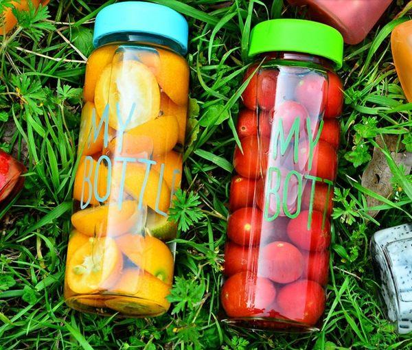 水杯【KCG106】My Bottle繽紛色彩便攜玻璃杯440ml(送潛水杯套) 水瓶 寬口杯 瓶子 隨行杯-123ok