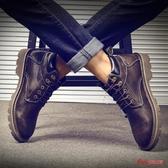 馬丁靴男 男潮英倫風冬季高筒鞋男中筒工裝靴雪地靴皮靴子男 3色36-44 快速出貨