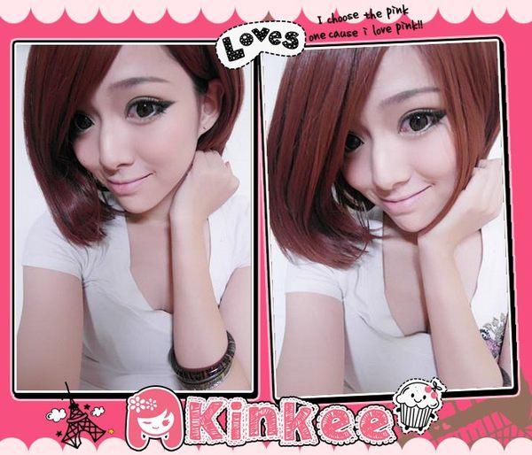 *╮Kinkee假髮╭*夢幻公主系頂級耐熱中分/旁分不對稱俏麗短髮【K0054】