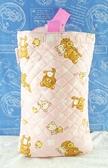 【震撼精品百貨】Rilakkuma San-X 拉拉熊懶懶熊~San-X 手提袋/收納袋-粉菱格#49177