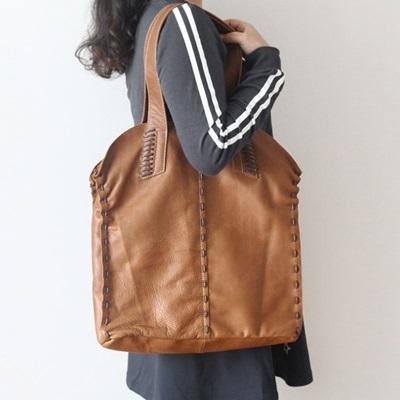 肩背包-真皮豎款純色休閒子母女手提包-3色73nf23[巴黎精品]
