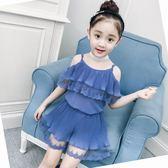 2018新款女童套裝洋氣時髦潮衣短袖兩件套 QG286『愛尚生活館』