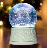 優一居 禮物音樂盒水晶球旋轉木馬八音盒禮物