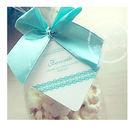幸福朵朵*【禮物吊卡包裝吊牌-菱形經典蕾絲-X100張-不含其它配件】婚禮小物.禮物裝飾.烘焙包裝