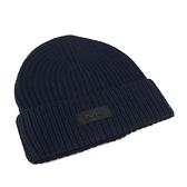 【南紡購物中心】MICHAEL KORS縮寫LOGO針織毛帽-深藍