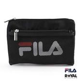 FILA 黑色 網袋 隨身 小包 斜背包 側背包 NO.H2660