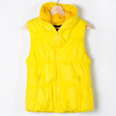 【MASTINA】空氣感造型背心-黃色 外套限時特賣