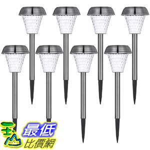 [106美國直購] 太陽能燈8入 Oak Leaf Solar Pathway Lights Oak Leaf LED Landscape Light 6X