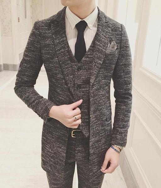 找到自己品牌 韓國男 呢面料 小西裝 修身西裝 西裝外套 單件外套