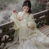 漢服女襦裙改良櫻花漢服超仙棠梨煎雪漢服 衣普菈