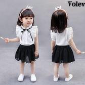 1-5女寶寶夏季女童小女孩衣服到3歲幼兒童短袖套裝2一周半夏裝4潮   初見居家