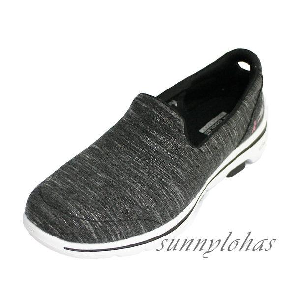 (A9) SKECHERS 健走鞋 GO WALK 5 女鞋 運動鞋 粉紅絲帶公益款 15044BKPK 髮絲深灰粉 [陽光樂活]