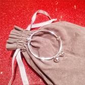 手鐲s925純銀電鍍轉運珠鈴鐺推拉手鐲女韓版小清新百搭氣質可調節手環 玩趣3C