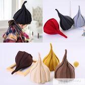 韓版女童春秋冬帽子男童西瓜帽寶寶毛線保暖嬰兒兒童尖尖帽潮親子 韓慕精品