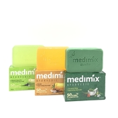 【印度MEDIMIX當地特價版】草本香皂125克30入(三色可任選)